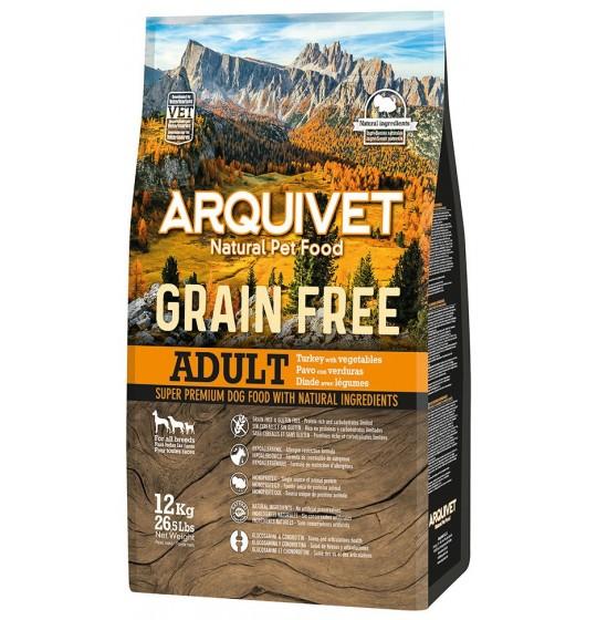 ARQUIVET Adult Sans Céréales Dinde & Légumes 12KG