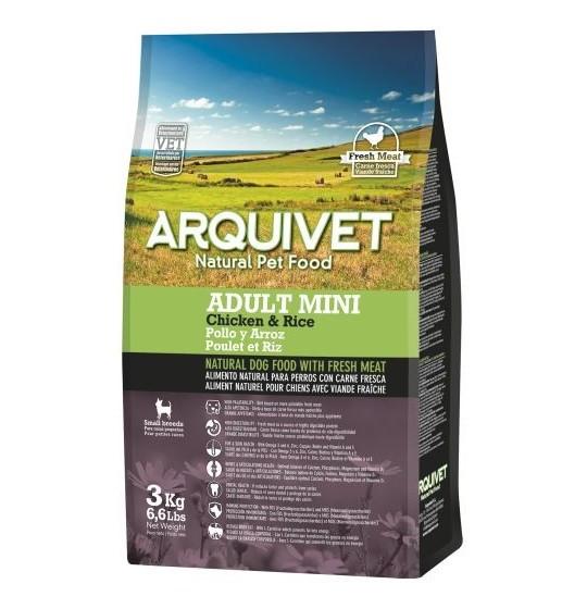 ARQUIVET Adult Mini au Poulet & riz pour Chien Adulte de Petite Taille 3KG